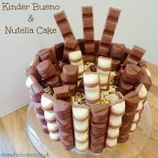 kinder bueno nutella cake she who bakes