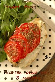 cuisine legere cuisine légère poulet farci ricotta olive menthe