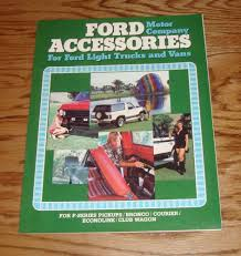 100 Truck And Van Accessories Original 1980 Ford Sales Brochure 80 Bronco