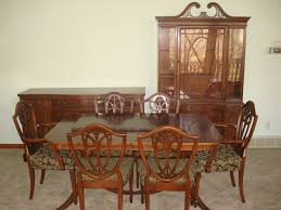 duncan phyfe dining room set double pedestal table chairs buffet
