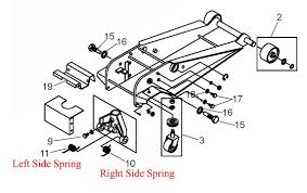Duralast Floor Jack Instructions by Amazon Com Torsion Handle Return Spring Fits Many Right Side