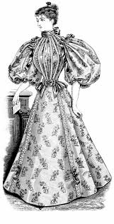 Art Victorian Vintage Dress Clipart Es For Teen Girls Girl Clip Lady Antique Grad Illus