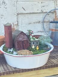 Disney Fairy Garden Decor by Miniature Farm Garden W Barn This Would Be Fun To Make With The