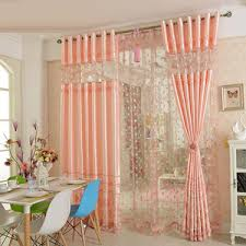 Curtains For Girls Room by Pink Purple Floral Polyester And Cotton Living Room Ombre Curtains
