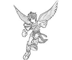 Kid Icarus Dark Pit Coloring Pages