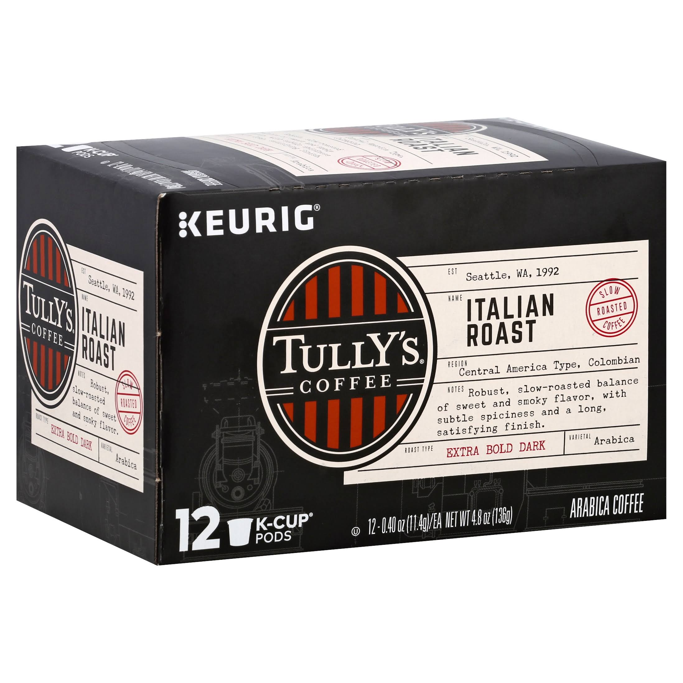 Tully's Coffee Keurig Dark Roast Coffee K-Cups - Italian Roast, 12ct