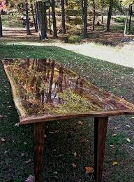 Resin Benches Outdoor by I Made It Reclaimed Pallet Table Top Finished With Epoxy Resin