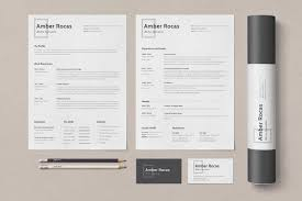 Simple Job Resume Examples With Business Cards And Poster Tube