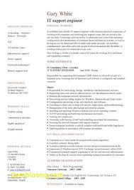Beautiful It Support Engineer Sample Resume