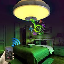 kinlams modern bluetooth speaker led ceiling light 12w 18w 24w 36w