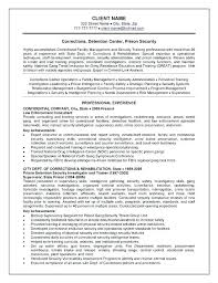 Law Enforcement Officer Resume Sample Police Examples Internal Template Free