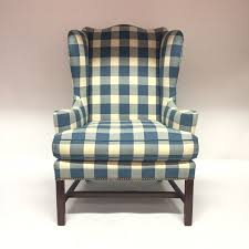 Ethan Allen Chippendale Wingback Chair by Diamond Baratta Chippendale Style Wing Chair