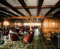 smoking room on the titanic colorized 1912 titanic in color com