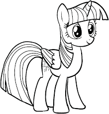 My Little Pony Coloring Pages To Print Sheet Horse Ponies Princess Luna Filly