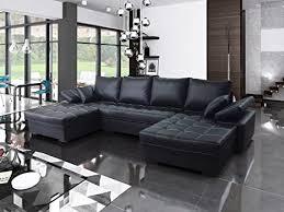 modernes ecksofa mit schlaffunktion und bettkasten fondo u form schlafsofa groß big sofa kunstleder wohnlandschaft bettkasten gewebe 19