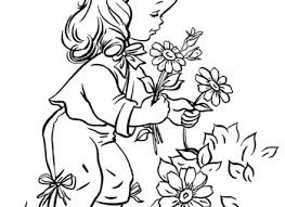 Flower Garden Coloring Pages For Kids Home