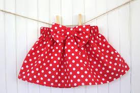 red polka dot skirt baby skirt girls skirt bow skirt