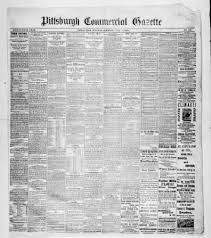 post gazette from pittsburgh pennsylvania on june 7 1881 page 1