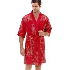 robe de chambre satin homme ob9523608 bourgogne noir hommes satin nuit nouveauté