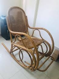 Rattan Rocking Chair, Furniture, Tables & Chairs On Carousell