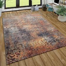 teppich wohnzimmer vintage design abstraktes ethno muster kurzflor mehrfarbig grösse 160x220 cm