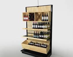 Shelf Black Gondola Shelving With Wood Design Stunning Beer Bottle Display Shelves Liquor Store Acceptable Floor