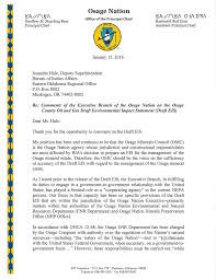 bia bureau of indian affairs letter to the bia regarding the draft environmental impact statement