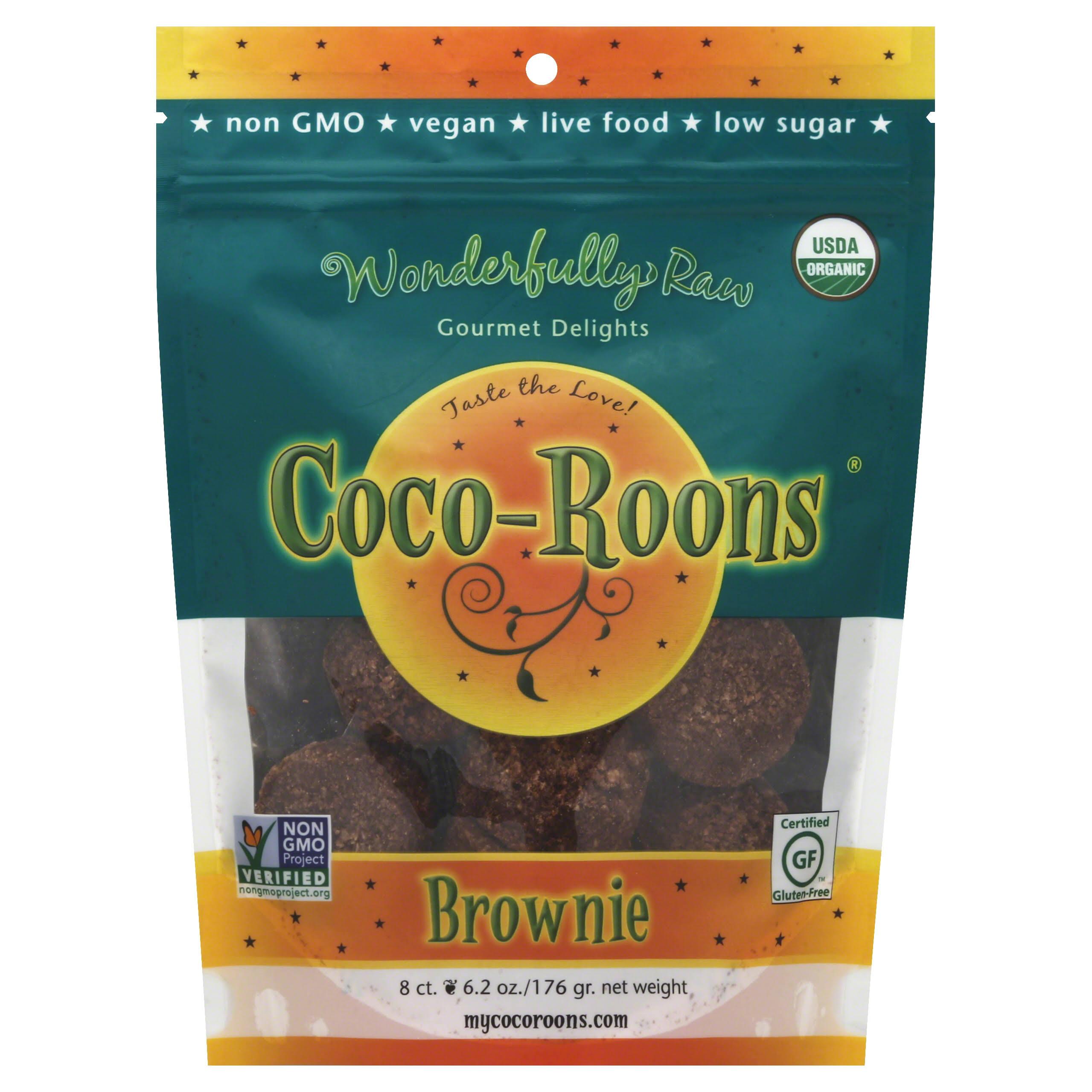 Wonderfully Raw Organic Brownie Coco-Roons - 175g