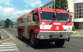 Czech Fire Trucks Responding -