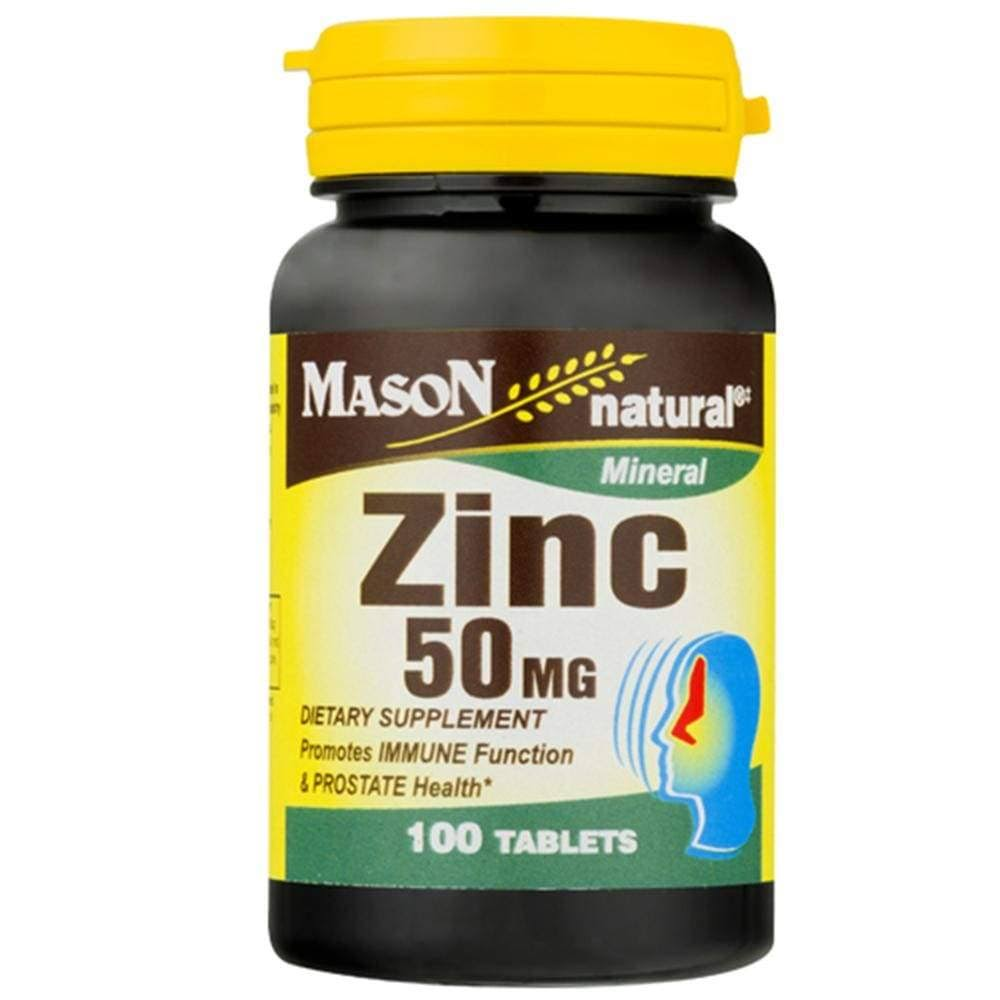 Mason Natural Mineral Zinc - 100 Tablets, 50mg