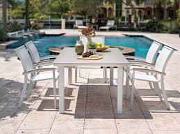 Stack Sling Patio Chair Turquoise by Telescope Casual Bazza Mgp Sling Aluminum Dining Set Bazzadinset1