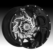 100 Black And Chrome Rims For Trucks DropStars 652BV Custom Wheels Dropstars Custom