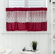 dreamskull kurzstores gardinen küche kurz fenster vorhänge vorhang küchengardine scheibengardine gardinenschals landausstil blickdicht vintage