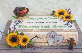 Rustic Themed Cake With Sunflowers And Birds Nest On Central Wedding Cakes