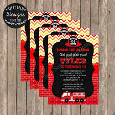 Fire-truck-themed-pictures-fireman-birthday-party-invitations-from ...