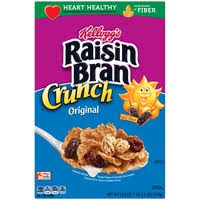 Kelloggs Raisin Bran Crunch Original Breakfast Cereal