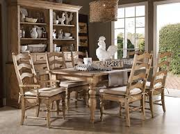 A Shabby Chic Farmhouse Table With Diy Chalk Paint Dining Room Set For Sale