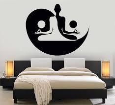 Vinyl Wall Decal Yin Yang Yoga Zen Meditation Bedroom Decor Stickers Mural 120ig