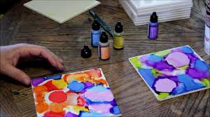 Decorating Fabric With Sharpies by How To Use Alcohol Ink On Ceramic Tiles Cool Diy Home Decorating