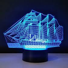 le bureau led le bateau 3d le de bureau led light acrylique bulbaison
