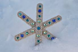 Pin Glitter Popsicle Stick Snowflake