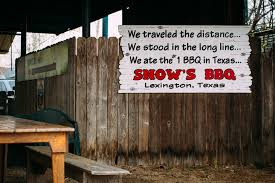 The Shed Barbeque Restaurant by How Snow U0027s Bbq Rose From Obscurity To Texas Barbecue Stardom Eater