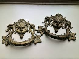 Cabinet Knob Backplate Antique Brass by Antique Brass Ornamental Door Drawer Cabinet Handle Pulls Devil