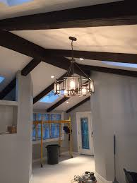 100 Beams On Ceiling Building A New Home With Exposed Faux Wood Workshop