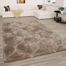 shaggy teppich wohnzimmer hochflor 3 d wellen look