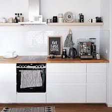 ohne kaffee geht nichts offene ikea küche mit voxtorp