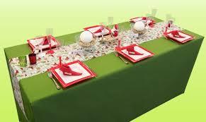 decoration table noel nappe verte décoration de noël déco écolo