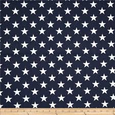 Curtain Fabric By The Yard by Premier Prints Stars Navy Blue White Discount Designer Fabric