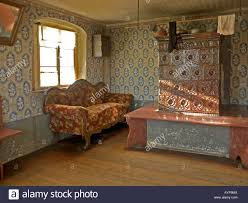 Living Room From 19th Century Interior View In An Old House With Image