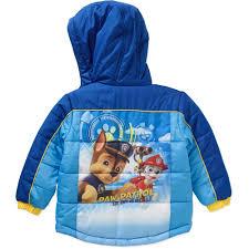 paw patrol toddler boy hooded puffer jacket walmart com